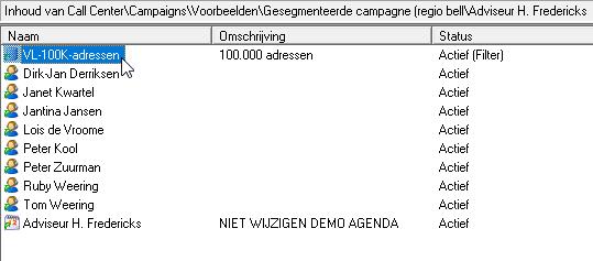 Gesegmenteerde campagne op accountmanager